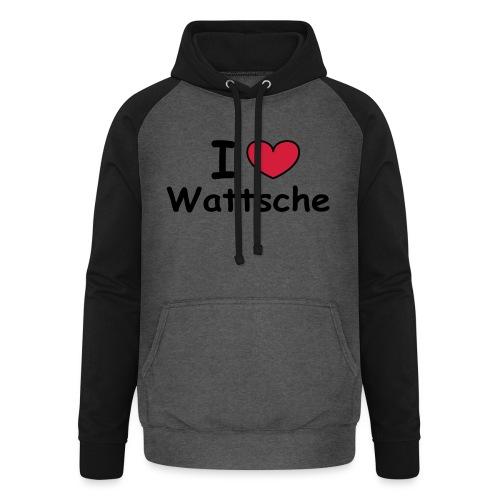 I ♥ Wattsche - Girlieshirt - Unisex Baseball Hoodie