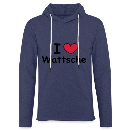 I ♥ Wattsche - Girlieshirt - Leichtes Kapuzensweatshirt Unisex