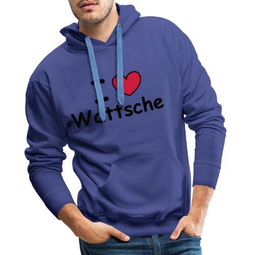 I ♥ Wattsche - Girlieshirt - Männer Premium Hoodie