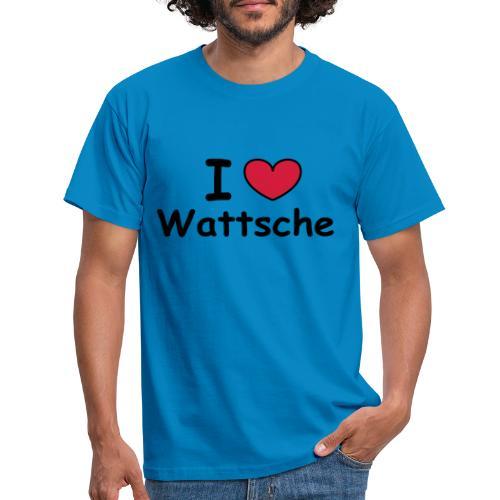 I ♥ Wattsche - Girlieshirt - Männer T-Shirt
