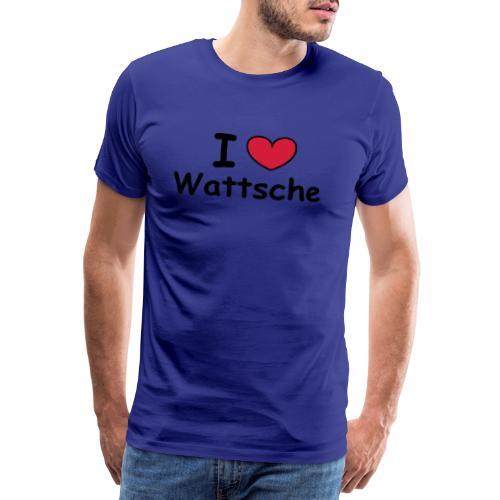 I ♥ Wattsche - Girlieshirt - Männer Premium T-Shirt