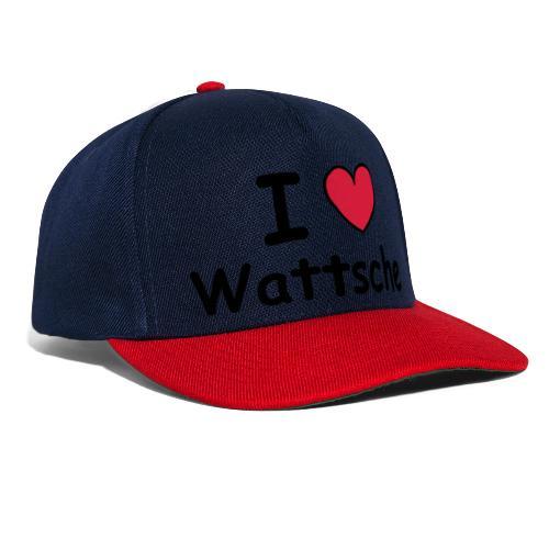 I ♥ Wattsche - Girlieshirt - Snapback Cap