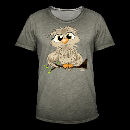 TeenShirt Käuzchen Hugo - Männer Vintage T-Shirt