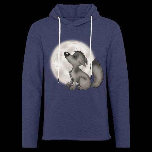 TeenieShirt Wölfchen - Leichtes Kapuzensweatshirt Unisex