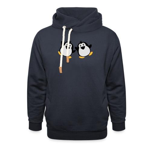 Pinguin Shirt - Schalkragen Hoodie