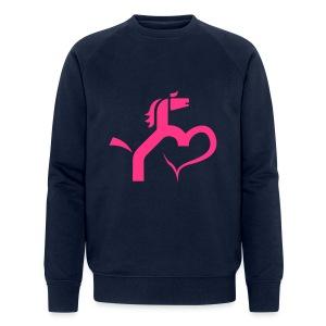 Ein Herz für Pferde - Männer Bio-Sweatshirt von Stanley & Stella