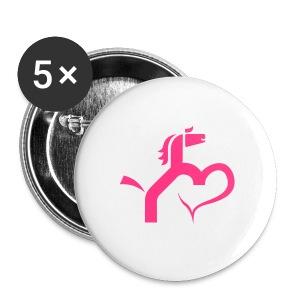 Ein Herz für Pferde - Buttons mittel 32 mm