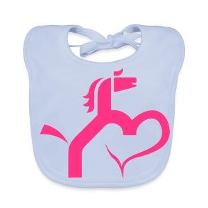 Ein Herz für Pferde - Baby Bio-Lätzchen