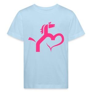 Ein Herz für Pferde - Kinder Bio-T-Shirt
