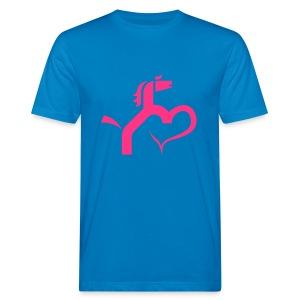 Ein Herz für Pferde - Männer Bio-T-Shirt