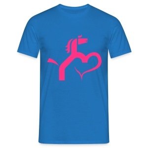 Ein Herz für Pferde - Männer T-Shirt