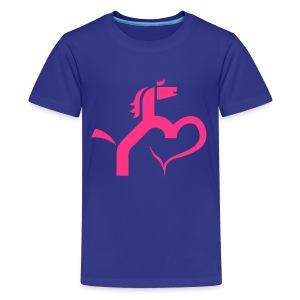 Ein Herz für Pferde - Teenager Premium T-Shirt