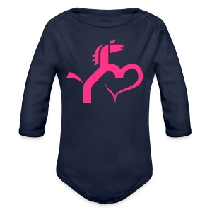 Ein Herz für Pferde - Baby Bio-Langarm-Body