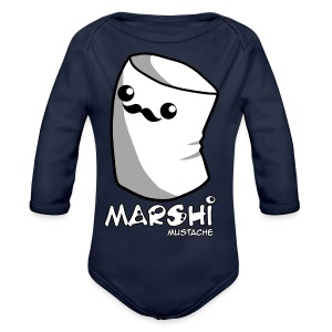 Marshi Moustache LIKE A SIR by Chosen Vowels - Shirt BOYS - Baby Bio-Langarm-Body