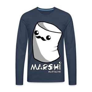 Marshi Moustache LIKE A SIR by Chosen Vowels - Shirt BOYS - Männer Premium Langarmshirt