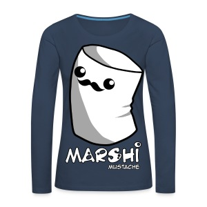 Marshi Moustache LIKE A SIR by Chosen Vowels - Shirt BOYS - Frauen Premium Langarmshirt