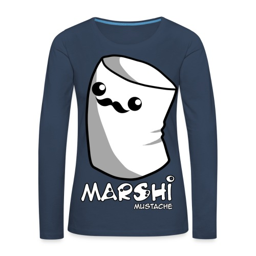 Marshi Moustache LIKE A SIR by Chosen Vowels - Shirt BOYS - Frauen Premium Langarmshirt