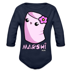 Marshi Mimi Marshmallow by Chosen Vowels - Shirt Girls - Baby Bio-Langarm-Body