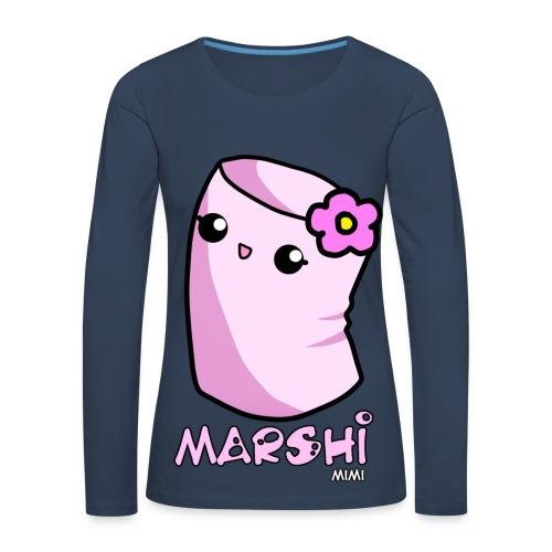 Marshi Mimi Marshmallow by Chosen Vowels - Shirt Girls - Frauen Premium Langarmshirt