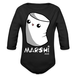 Marshi Mike Marshmallow by Chosen Vowels - Shirt Boys - Baby Bio-Langarm-Body