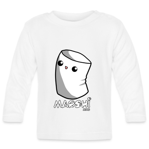 Marshi Mike Marshmallow by Chosen Vowels - Shirt Boys - Baby Langarmshirt