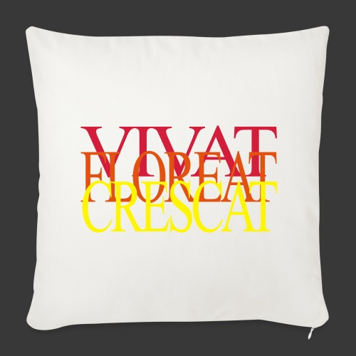 VIVAT FLOREAT CRESCAT - Sofa pillow cover 44 x 44 cm