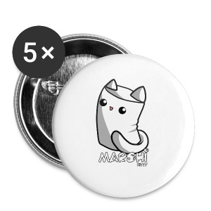 Marshi Kitty Marshmallow by Chosen Vowels - Shirt - Buttons groß 56 mm
