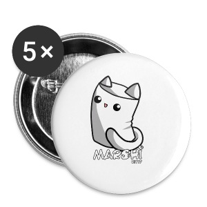 Marshi Kitty Marshmallow by Chosen Vowels - Shirt - Buttons klein 25 mm