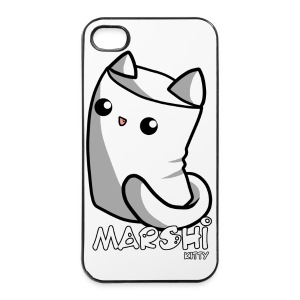 Marshi Kitty Marshmallow by Chosen Vowels - Shirt - iPhone 4/4s Hard Case