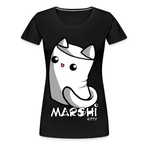 Marshi Kitty Marshmallow by Chosen Vowels - Shirt - Frauen Premium T-Shirt