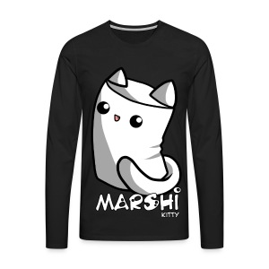 Marshi Kitty Marshmallow by Chosen Vowels - Shirt - Männer Premium Langarmshirt