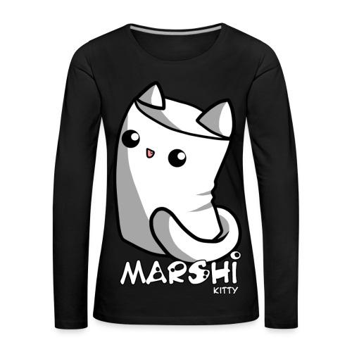 Marshi Kitty Marshmallow by Chosen Vowels - Shirt - Frauen Premium Langarmshirt
