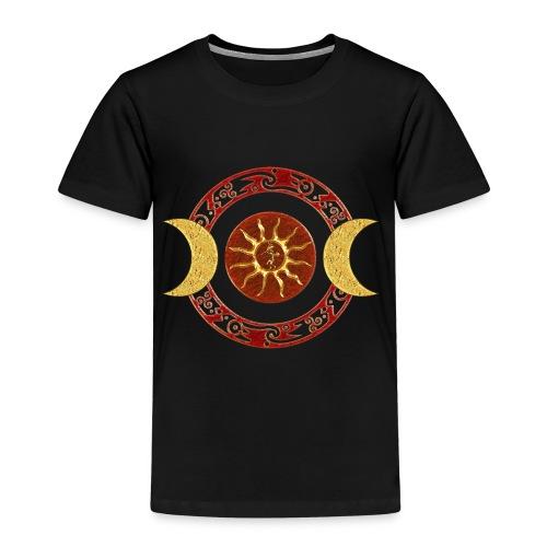 Mond - Kokopelli / rot gold - Kinder Premium T-Shirt