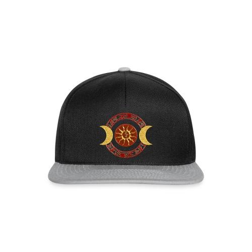 Mond - Kokopelli / rot gold - Snapback Cap