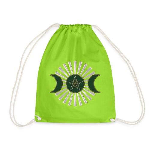 Mond - Pentagramm, Venusblume / grün - Turnbeutel
