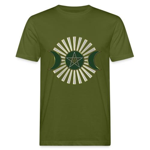 Mond - Pentagramm, Venusblume / grün - Männer Bio-T-Shirt