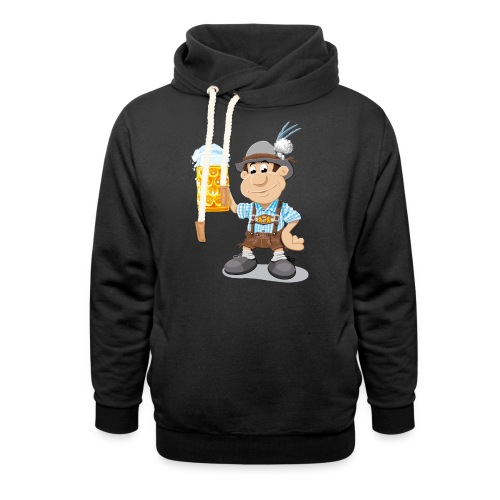 Herren T-Shirt Oktoberfest Lederhosen Bier - Schalkragen Hoodie
