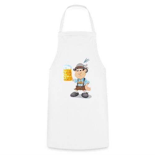 Herren T-Shirt Oktoberfest Lederhosen Bier - Kochschürze