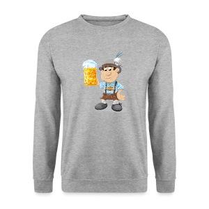 Herren T-Shirt Oktoberfest Lederhosen Bier - Männer Pullover