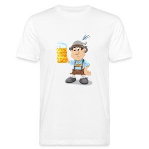 Herren T-Shirt Oktoberfest Lederhosen Bier - Männer Bio-T-Shirt