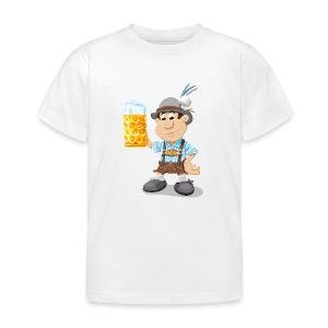 Herren T-Shirt Oktoberfest Lederhosen Bier - Kinder T-Shirt