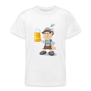 Herren T-Shirt Oktoberfest Lederhosen Bier - Teenager T-Shirt
