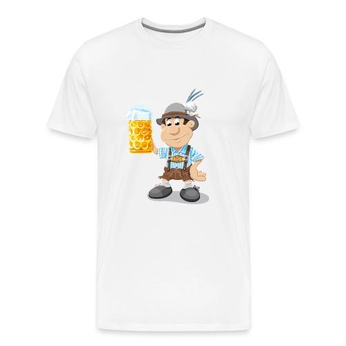 Herren T-Shirt Oktoberfest Lederhosen Bier - Männer Premium T-Shirt