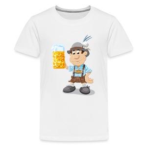 Herren T-Shirt Oktoberfest Lederhosen Bier - Teenager Premium T-Shirt