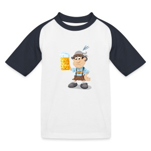 Herren T-Shirt Oktoberfest Lederhosen Bier - Kinder Baseball T-Shirt