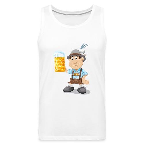 Herren T-Shirt Oktoberfest Lederhosen Bier - Männer Premium Tank Top