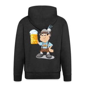 Herren T-Shirt Oktoberfest Lederhosen Bier - Männer Premium Kapuzenjacke