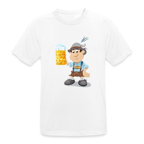 Herren T-Shirt Oktoberfest Lederhosen Bier - Männer T-Shirt atmungsaktiv