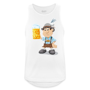 Herren T-Shirt Oktoberfest Lederhosen Bier - Männer Tank Top atmungsaktiv