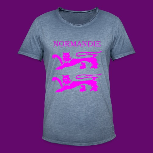 TEE SHIRT NORMANDIE LIONS ROSES - T-shirt vintage Homme